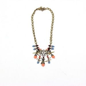 J.Crew Necklace Statement Rhinestone Colorful 22""